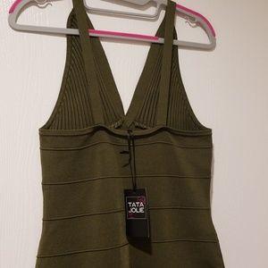 Tata Jolie Dresses - Army green bandage dress